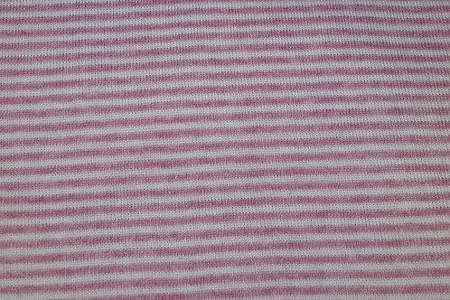 Roze/Witte streep - Dikkere jersey