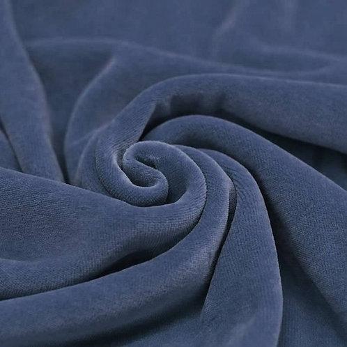 Jeansblauw - NickyVelours - Katoen/Polyester