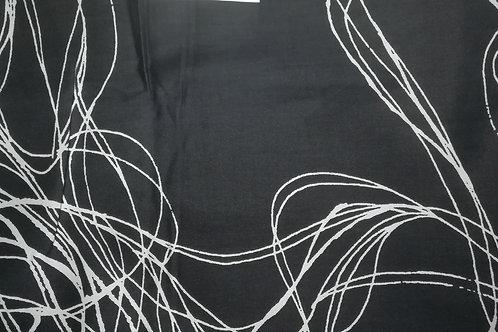 Zwart/Wit - Katoen met glans