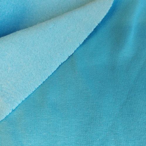 Turquoise - Katoen fleece