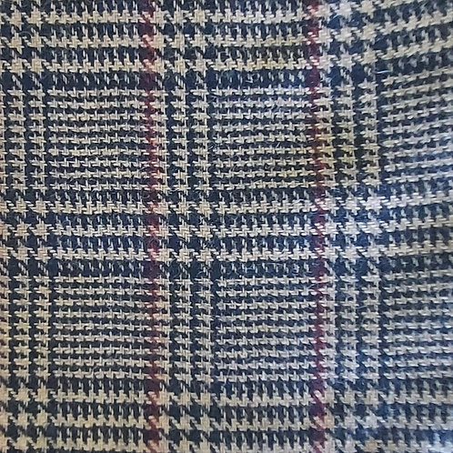 Geruit - Polyester/Wol