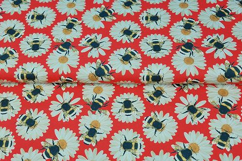 Bloemen en bijtjes - Katoen jersey