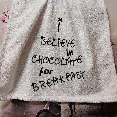 """""""I believe in Chocolate for breakfast"""" 7delige handdoekenset"""