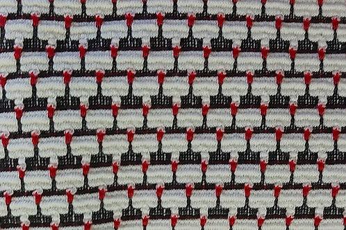 Wit/Zwart/Rood - Fijngebreid