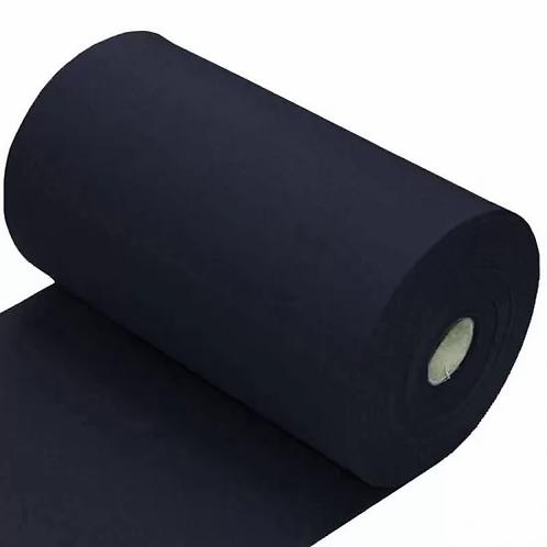 Donker blauw - Boordstof - Katoen/Elasta