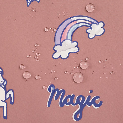 Softshell met regenboog magie - Swafing - Verkleurd in de regen