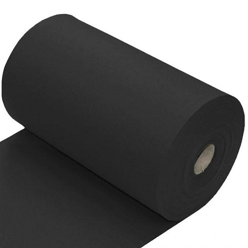 Zwart - Boordstof - Katoen/Elastan