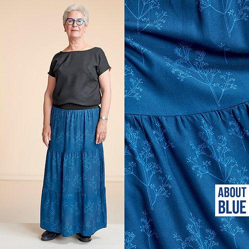 Bloemen en applaus - About Blue Fabrics - Crepe Viscose