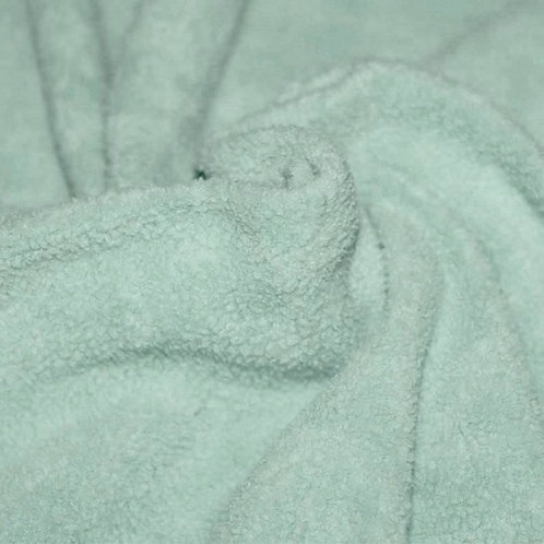Zee groen - Katoen Fleece Sherpa