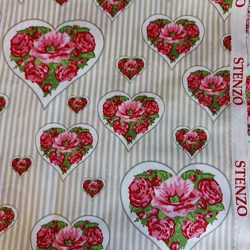 Bloemen met hartjes - Stenzo - Katoen