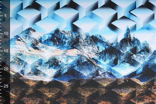 *Bergen landschap - Digitaal paneel scouba crepe