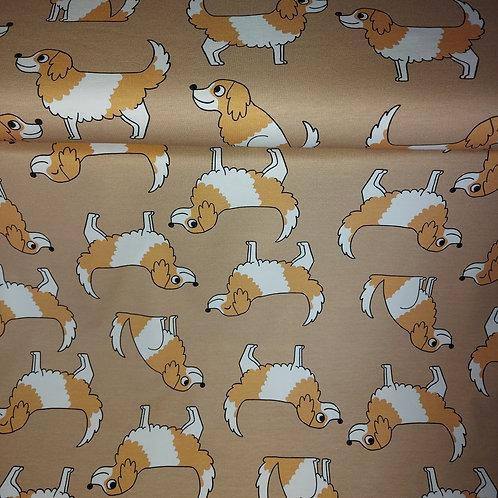 Doggy Beige - Eva Mouton - Katoen jersey