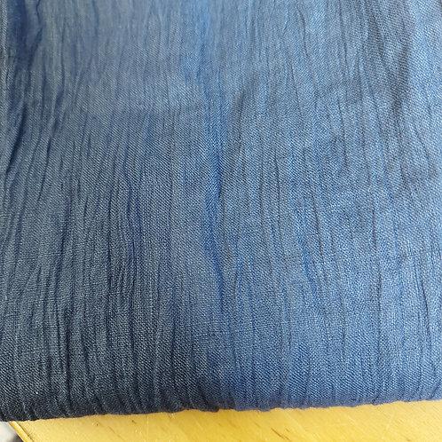 Donker jeansblauw - Rimpelkatoen