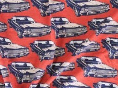 Retro auto - Mies en Moos - Geruwde French Terry
