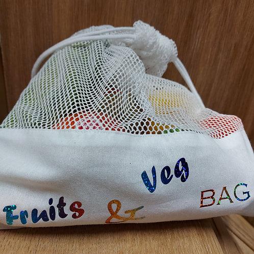 Groenten/fruit zakje - Printwear - Te personaliseren naar wens