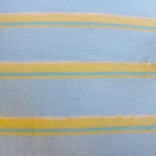 Blauw Geel - Fijn gebreid