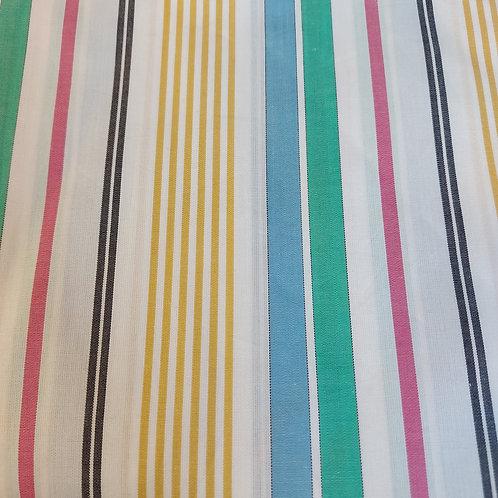 Vele kleuren strepen - Katoen/Poplin