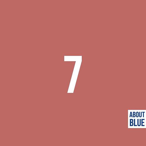 Donkerroze 7 - About Blue - Boordstof