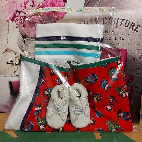 Dekbedovertrek met schoentjes - Handgemaakt - Te personaliseren naar wens