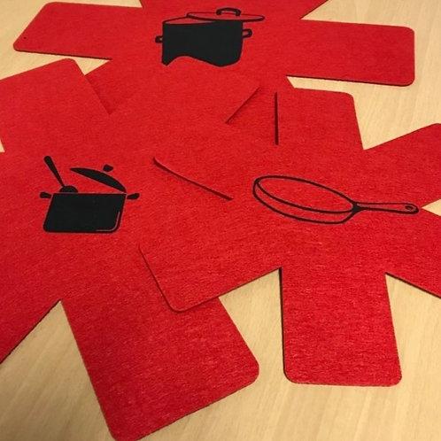3-delige set pannenscheiders - Te personaliseren naar wens