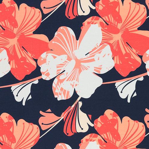 Bloemen donkerblauw - Swafing - Katoen jersey