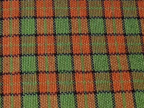 Oranje/Groen geruit - Polyester met lycra