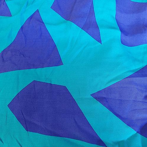 Turquoise/Kobalt blauw - Viscose