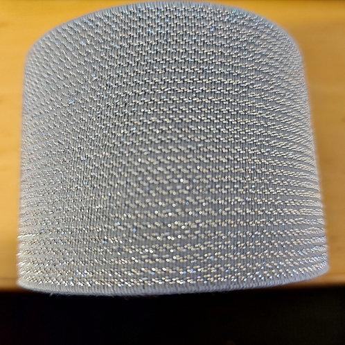 Zilver - lurex sierelastiek