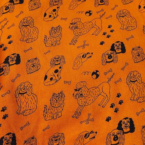 Oranje met zwarte honden - Dikkere jersey