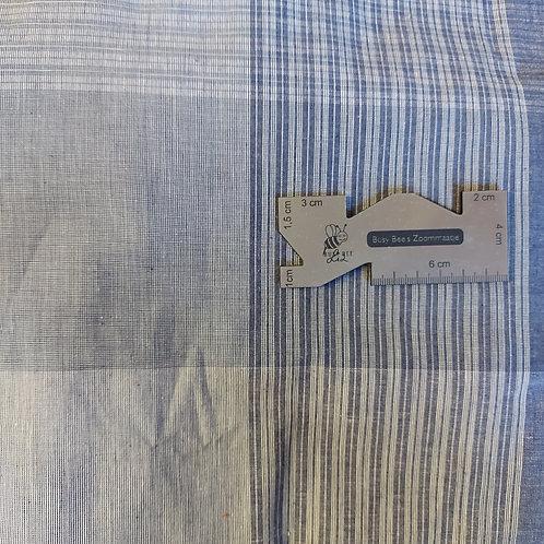 Jeans blauw geruit - Katoen
