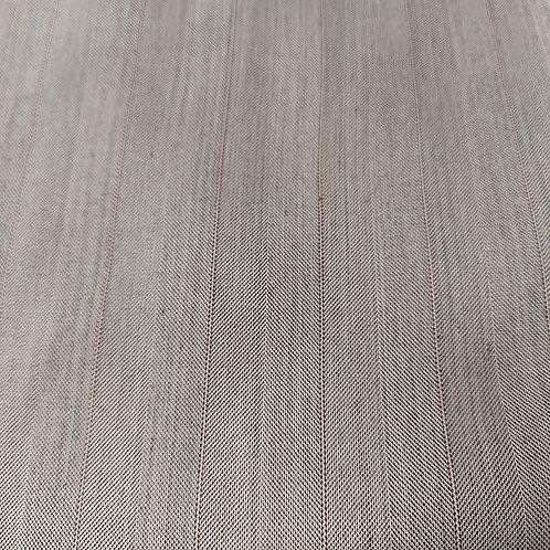 Strepen grijs/bordeaux - Polyester/Katoen