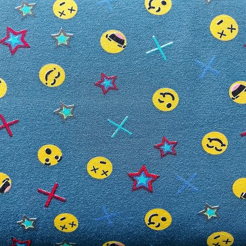 Smiley - Megan Blue - Katoen jersey