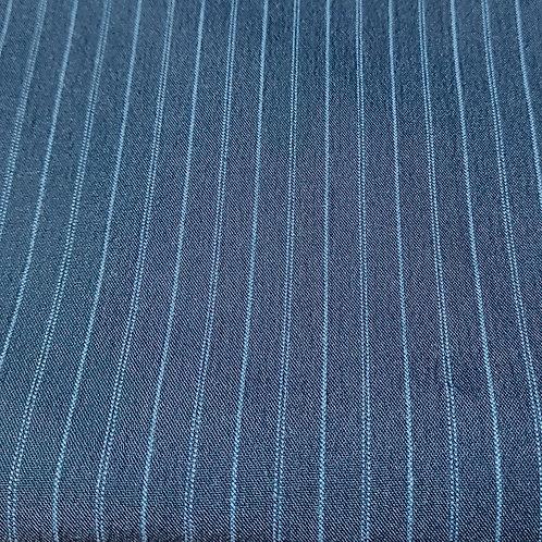 Donkerblauw met fijne streep - Polyester