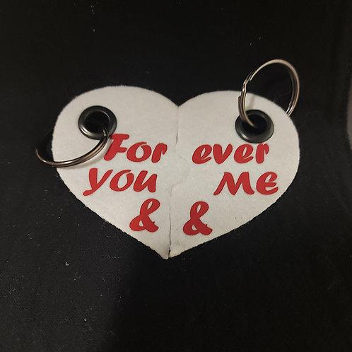 """""""You&Me"""" sleutelhanger set - Vilt"""