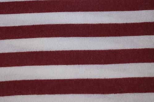 Rood/Wit streep - Katoen jersey