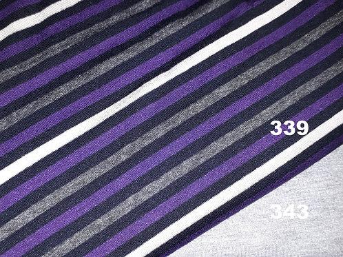 Paars/Wit/Zwart/Grijs streep horizontaal - Jersey