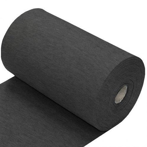 Antraciet grijs gemeleerd - Boordstof - Katoen/Elastan