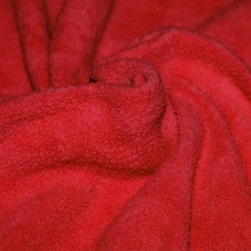 Rood - Katoen Fleece Sherpa