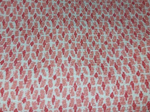 Wit Roze Fushia - Geweven stof