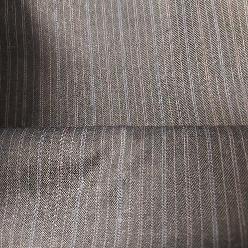Antraciet grijs met krijtstreep - Polyester/Wol