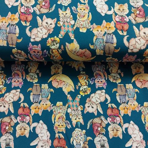 Katten - Stenzo - Digitale katoen jersey