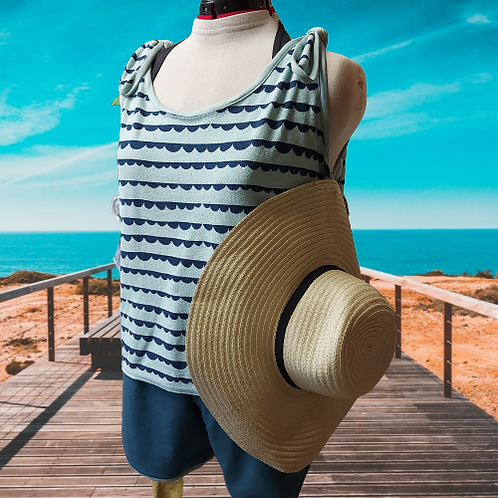 *Summer outfit - About Blue stofjes