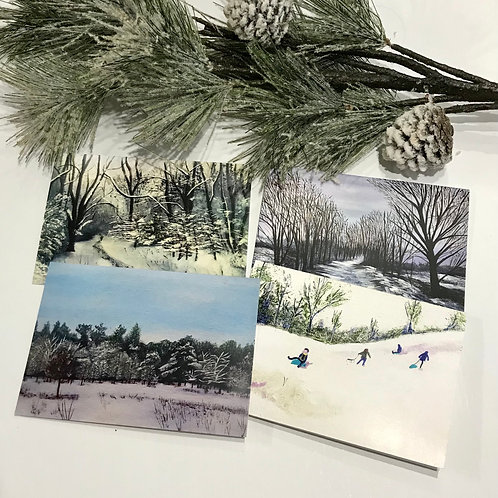 A6 Winter Cards -Pack of 8