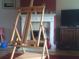 I have a new easel!