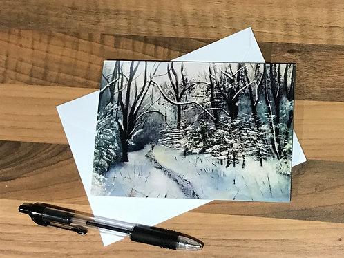 A6 Winter Card- Box Hill