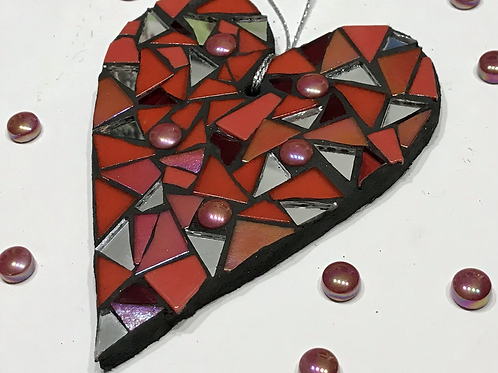 Red Mosaic Heart 2