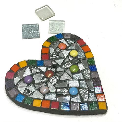 Rainbow  Heart Mosaic