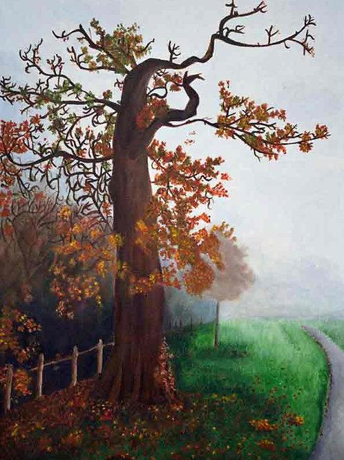 Autumn Tree in Nonsuch Gardens
