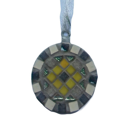 Grey and Yellow Bauble