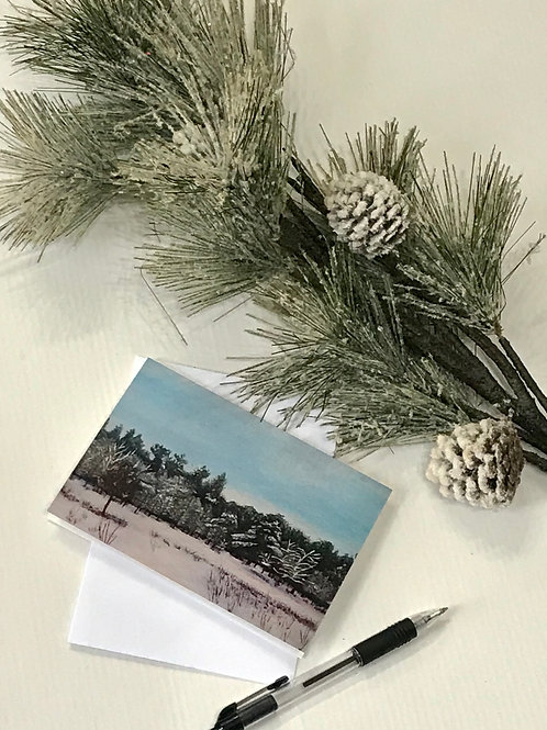A6 Winter Card- Nonsuch Park